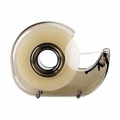 Scotch H-127 Hand Held Tape Dispenser, 4.6 in H x 4 in W x 1.1 in D, Smoky Translucent, Plastic
