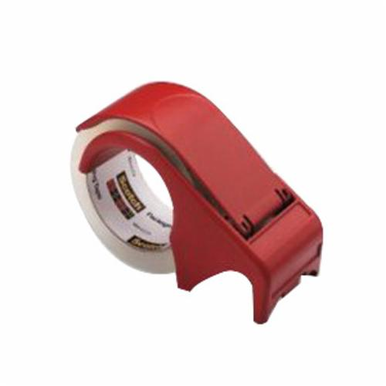 Scotch DP300-RD Hand Held Tape Dispenser, Red, Plastic