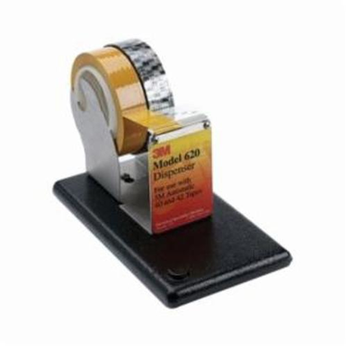 3M 620 Utility Tape Dispenser With Base, 2 in Roll, 1 in or 3 in Core, Stainless Steel Frame