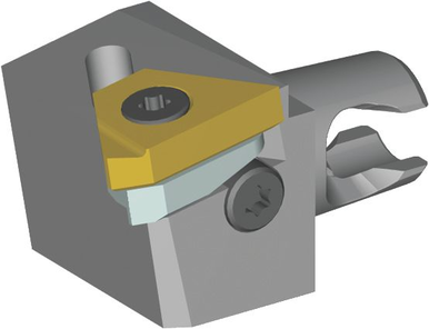 Kennametal 2226280 LSS 90 Degree - Micro CU Screw Boring Bar, 33 mm OAL, Steel