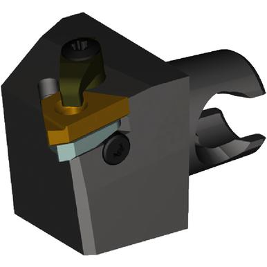 Kennametal 3176219 Series LSS 90 Degree Taper Shank Rectangular Shank Adapter, 25 mm, 50 mm OAL