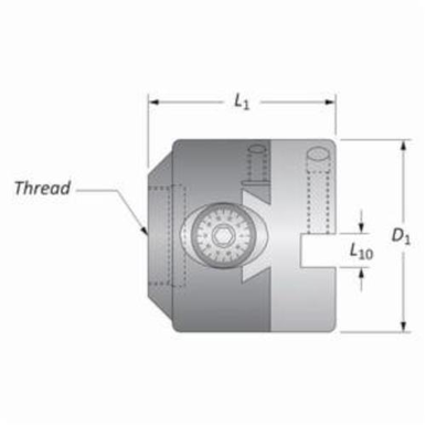 AME® Criterion™ CSL Manual Offset Boring Head, Slotted Shank, Threaded Mount