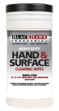 BHID-J100, Citrus, Heavy Duty, Double Sided, Hand & Surface Cleaning Wipes