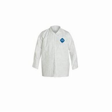 Dupont® TY303SWHMD005000 Long Sleeve Work Shirt, M, White, Tyvek®, 30-7/8 in L
