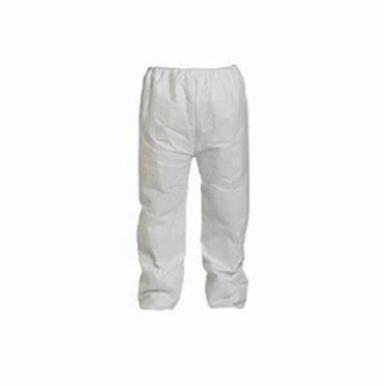 Dupont® TY350SWH2X005000 Serged Seam Disposable Pant, 2XL, White, Tyvek®, 26-1/2 in Waist