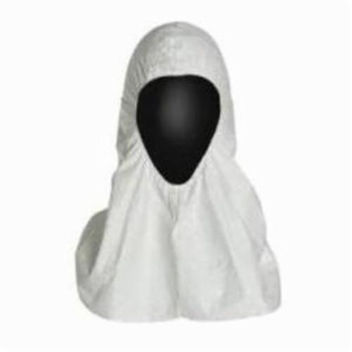 Dupont® TY657S Pullover Hood, Universal, White, Tyvek®, 1.2 oz/sq-yd, Front Snap Closure
