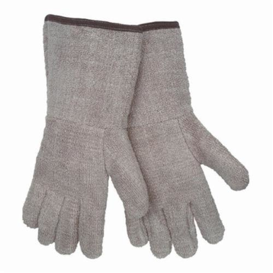 Memphis 9432GFR Extra Heavyweight Reversible Hot Mill Gloves, XL, Terrycloth, Natural, Unlined, Plasticized Gauntlet Cuff, Uncoated Coating, 12-1/2 in L, 608 deg F Max Temperature, ANSI Heat Level: 5