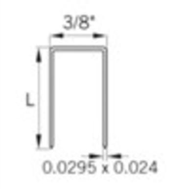 Bea 71 3/16 Leg X 3/8 Crown 22 Ga Staple 20m/bx  24 Bx/ctn  40 Ctn/sk