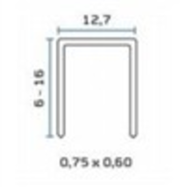 Bea 71 1/2 Leg X 3/8 Crown 22 Ga Staple 20m/bx  12bx/ctn  44 Ctn/sk