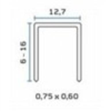 Bea 80 1/2 X 1/2 Crown 20 Ga Staple 15m/bx  8bx/ctn  48 Ctn/sk
