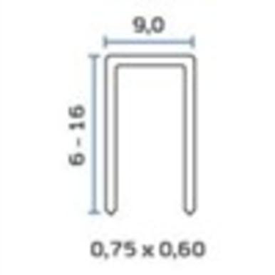 Bea 72 - 3/8 Leg 1/2 Crown 22 Ga Staple (10000158) 21.84m/bx  8bx/ctn  40 Ctn/sk