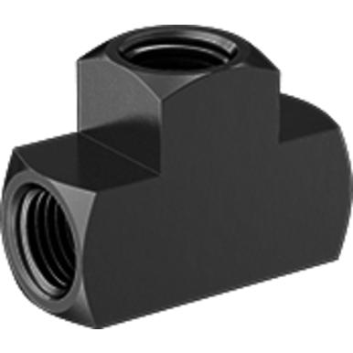 1000 psi at 72 deg F, FNPT, High Pressure Brass Pipe Fitting, Tee