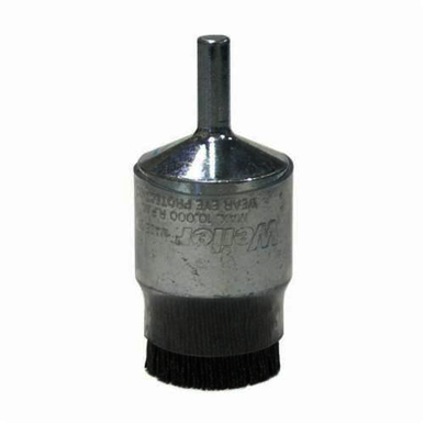 Burr-Rx 86104 Stem Mount End Brush, 1 in, Crimped, 0.026 in, Ceramic Fill, 1/4 in L Trim
