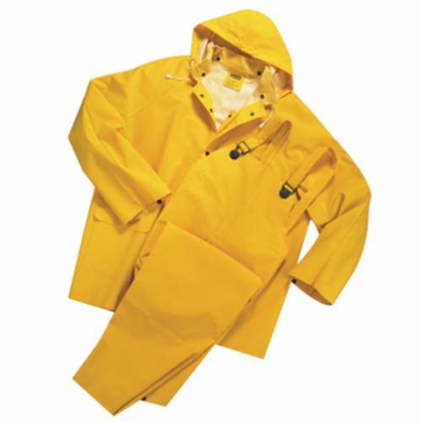 Master Gear 4035/7XL 3-Piece Rainsuit, 7XL, Yellow, Polyester/PVC, 69 in Chest
