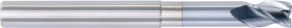 Hanita 2870470 3/8 3F Solid Carbide End Mill 4 OAL
