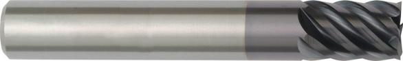 Hanita 3094925 1 6F Solid Carbide End Mill 5 1/2 OAL