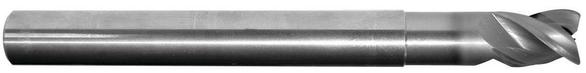 Hanita 3336089 1/8 3F Solid Carbide End Mill 3 OAL